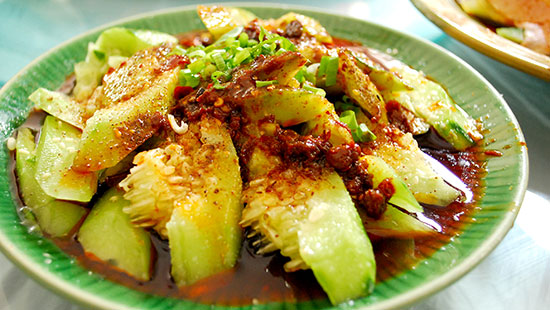 china cooked cucumber