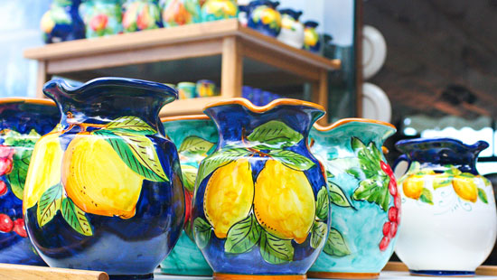 ceramics amalfi coast