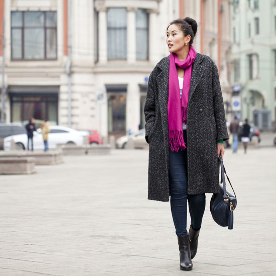 stylish woman in Europe